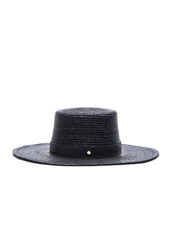 Janessa Leone Calla hat in black