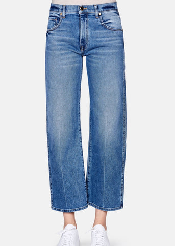 Khaite WENDALL CROPPED WIDE LEG vintage blue