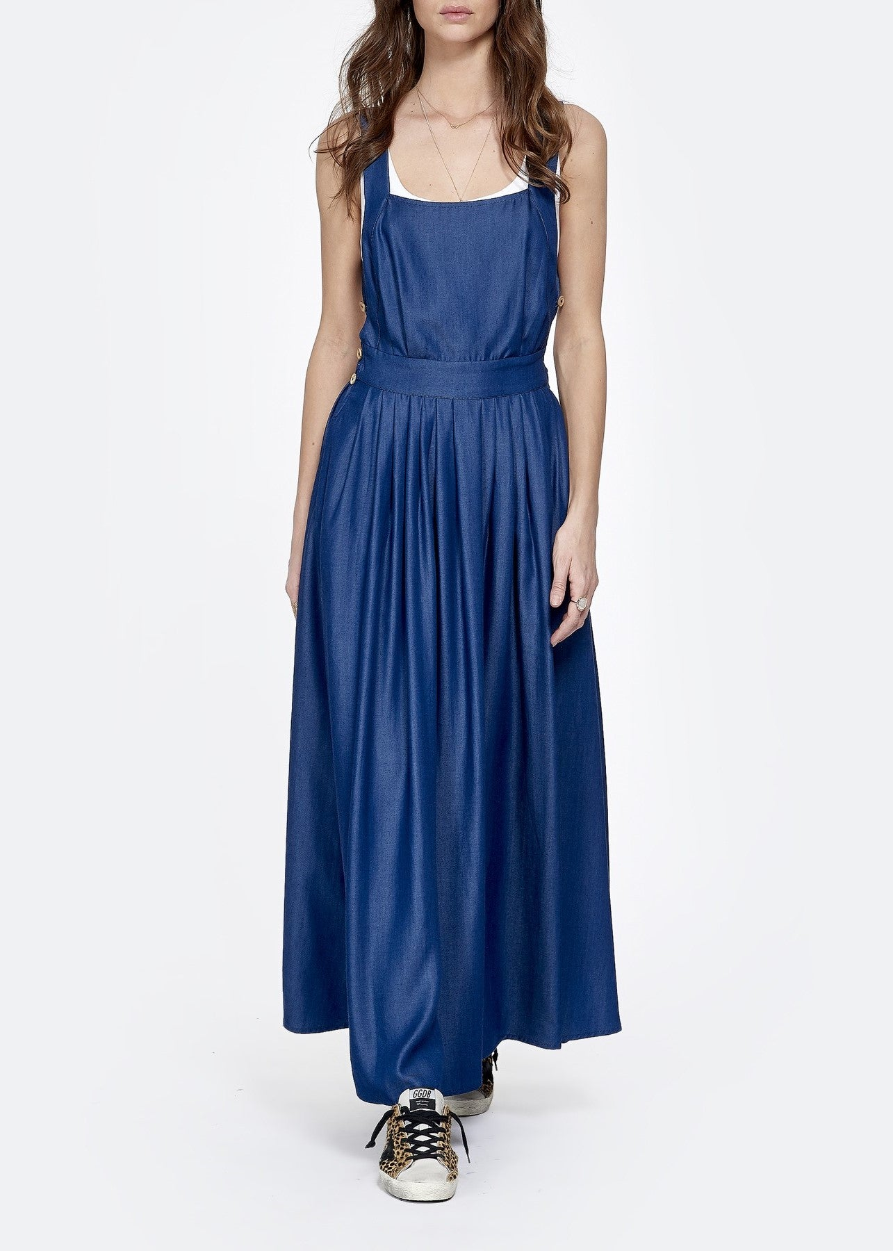 La Dovitch Crima blue cross back dress
