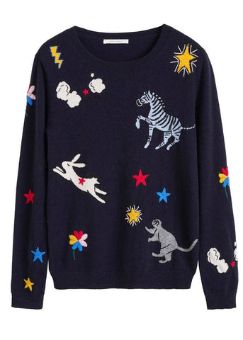 Chinti and Parker Le Cirque sweater in navy