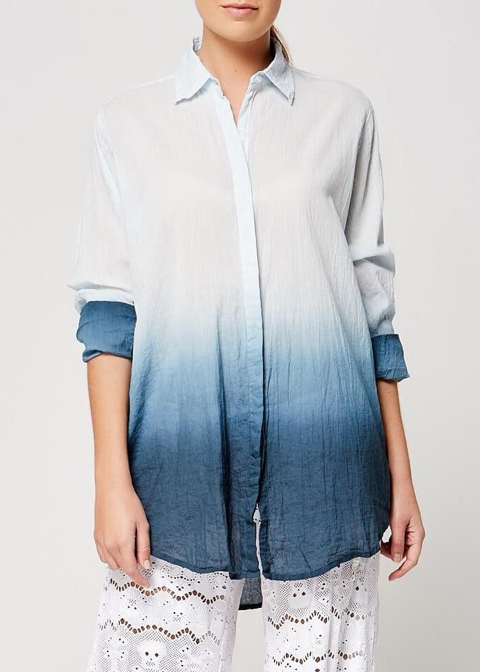 LeTarte beach shirt dusty navy