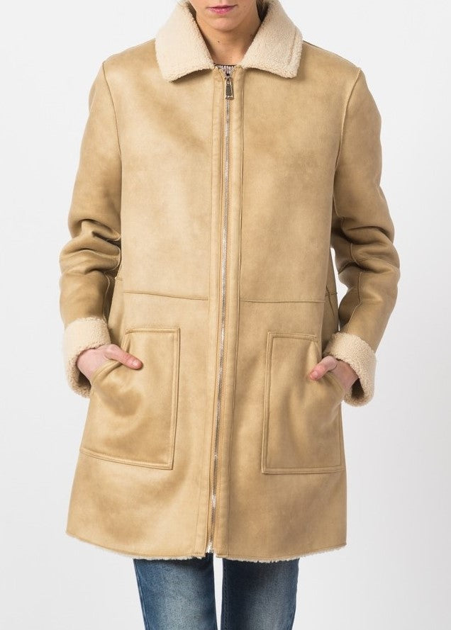 Indi & Cold faux shearling coat