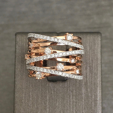Rocks with Soul Multi Band Diamond and Pave Ring