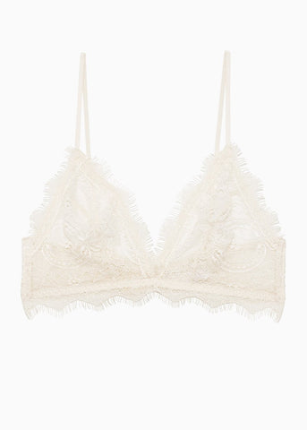 Anine Bing Lace bra with trim in nude
