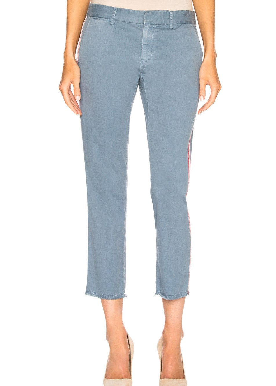 Nili Lotan east hampton pant with tape in washed blue