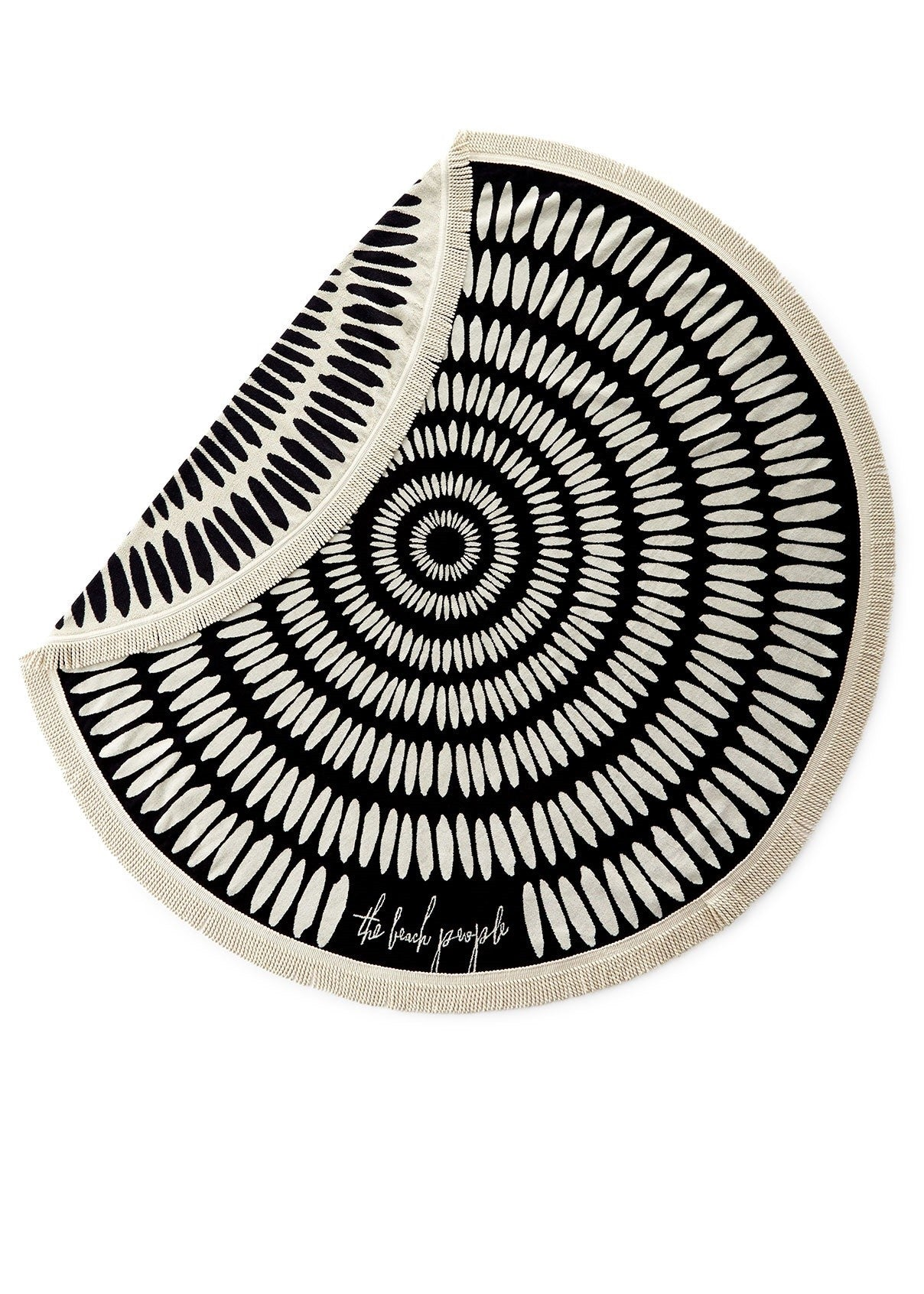 The Beach People Tulum towel black cream