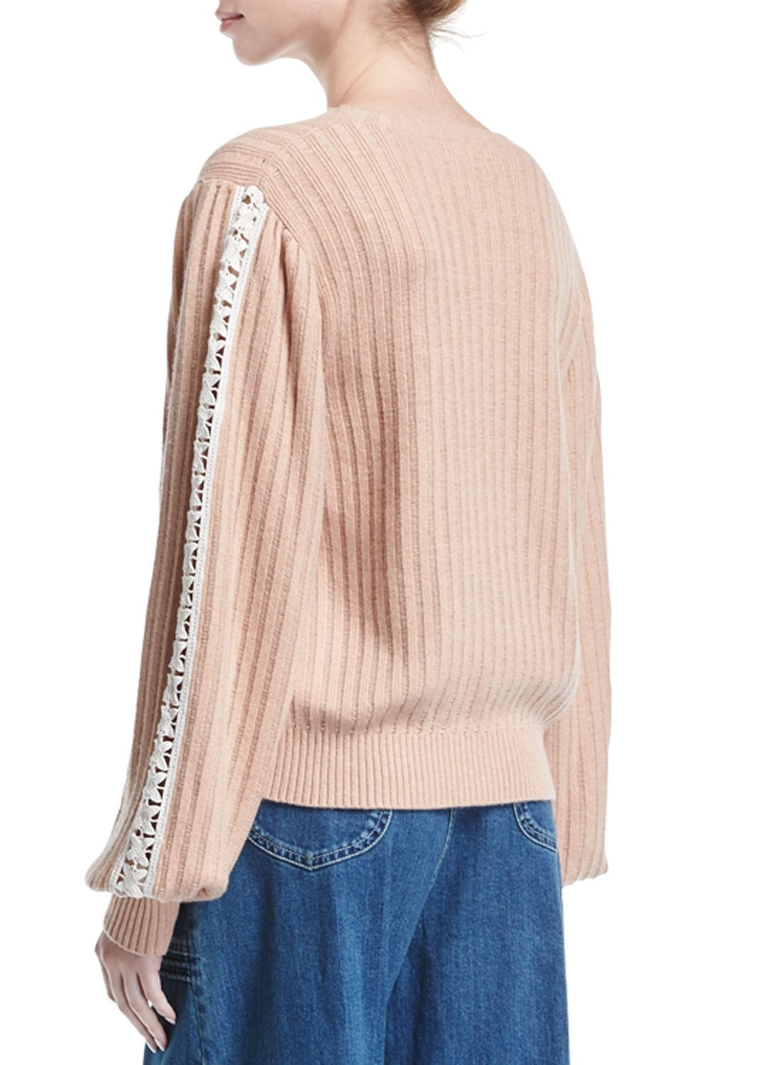 See by Chloe knit pullover rose