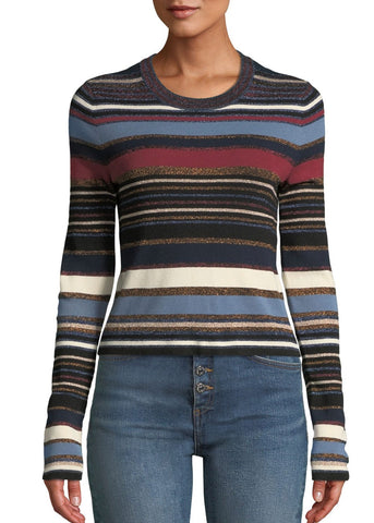 Veronica Beard Palmas sweater in navy multi