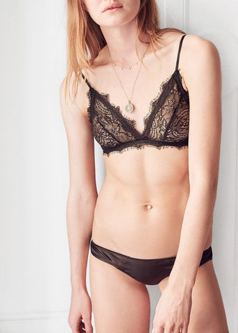 Anine Bing Lace bra with trim in black