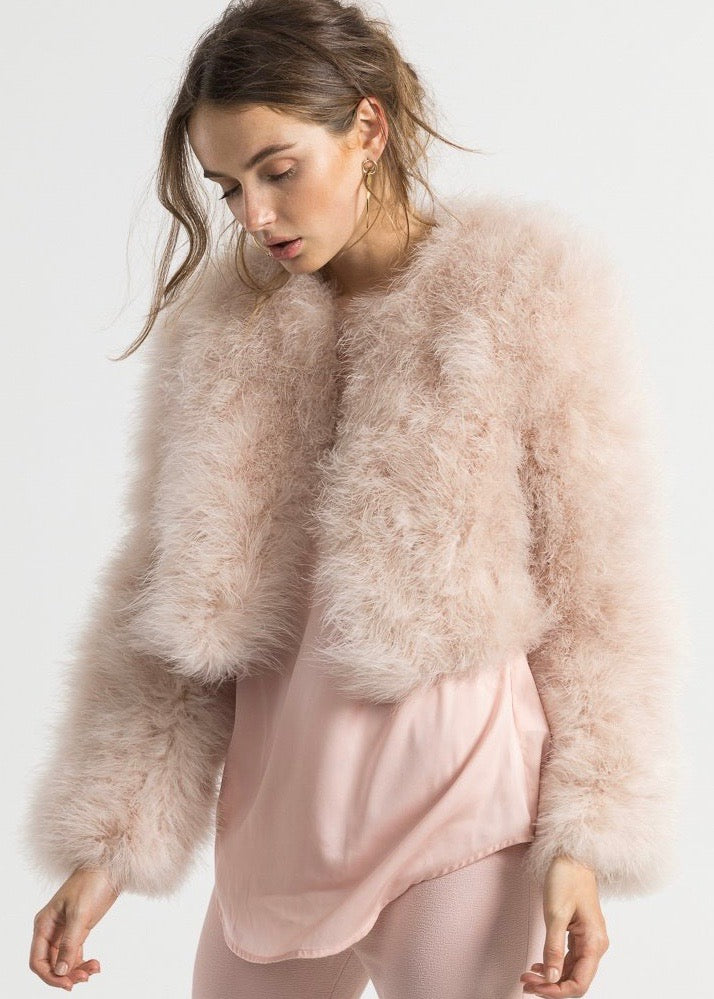 Bubish Manhattan Feather jacket in pink