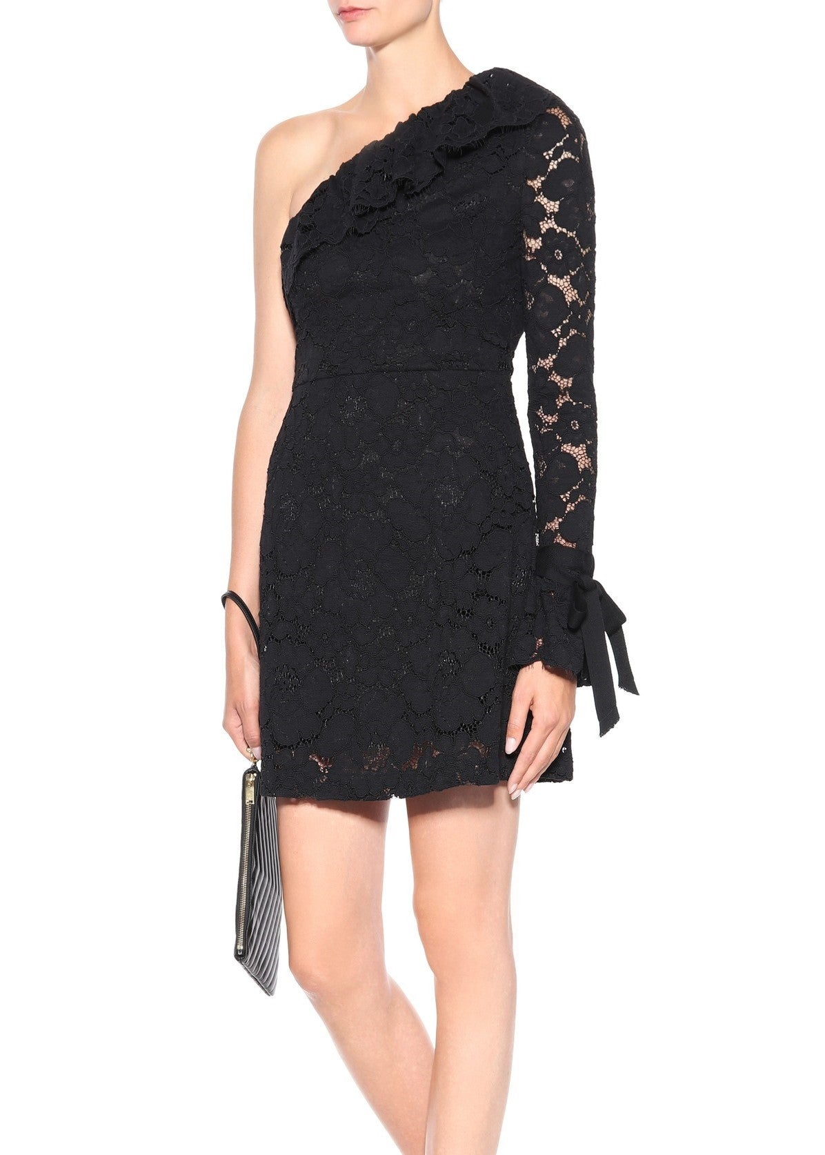 Philosophy di Lorenzo Serafini one shoulder lace dress black
