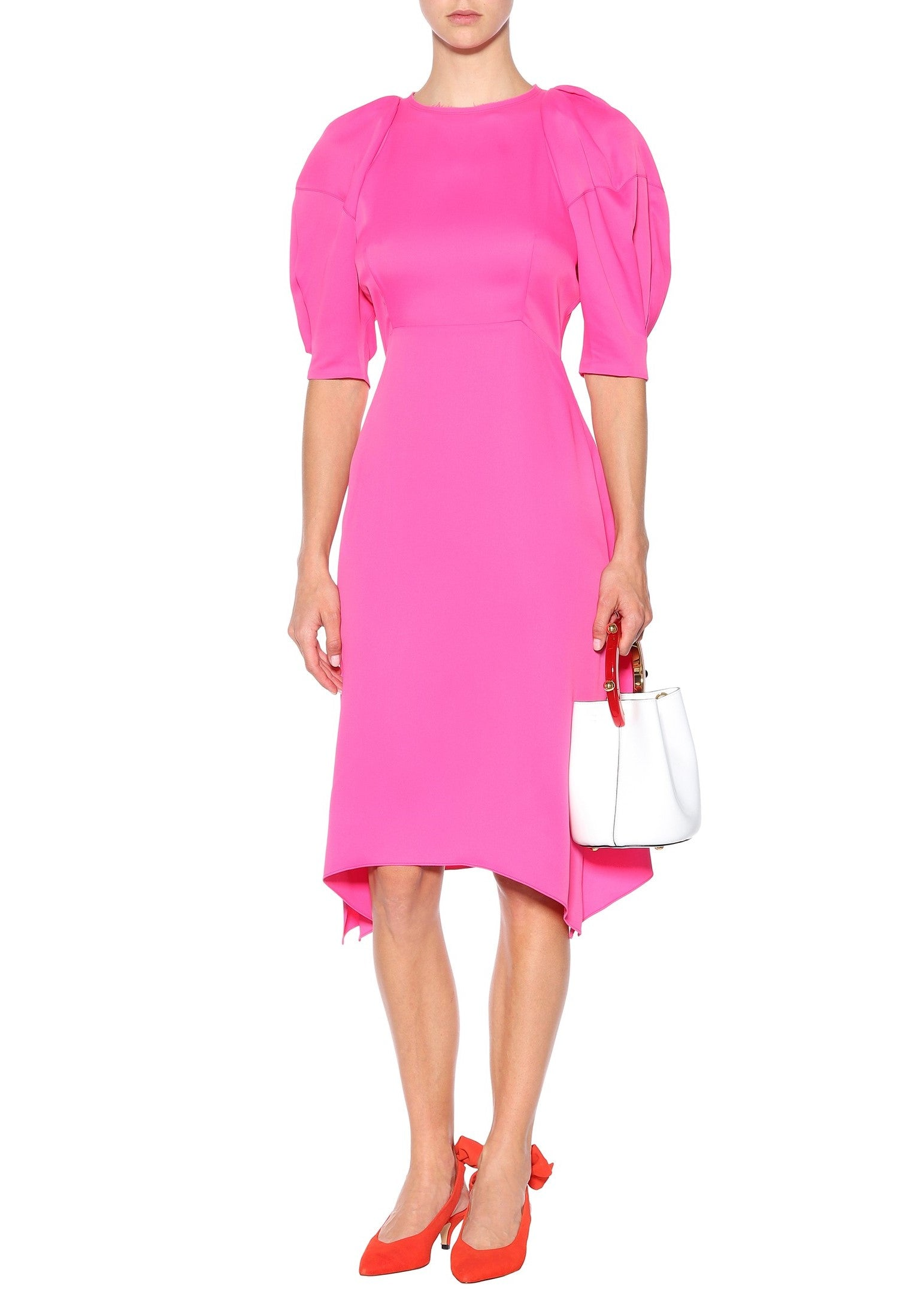 Khaite Cynthia dress in bright pink