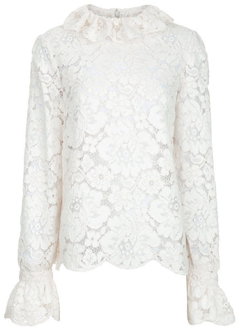 Philosophy di Lorenzo Serafini longsleeve lace top cream