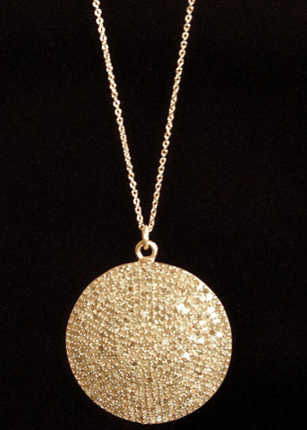 Designs by Alina grand sun pave diamond necklace