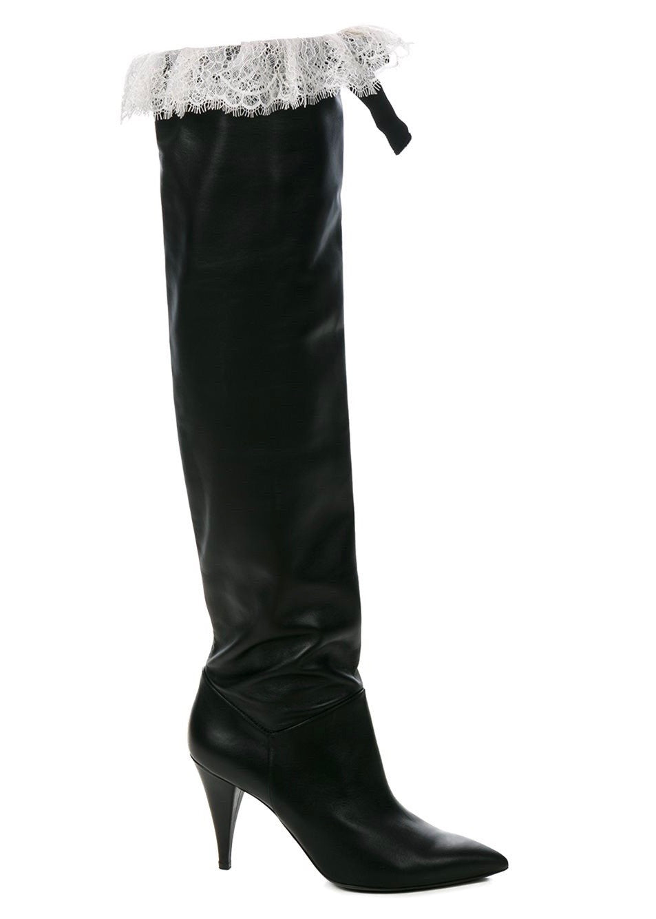Philosophy di Lorenzo Serafini tall leather boots black