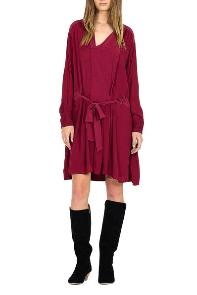 Magali Pascal phoenix shirtdress raspberry