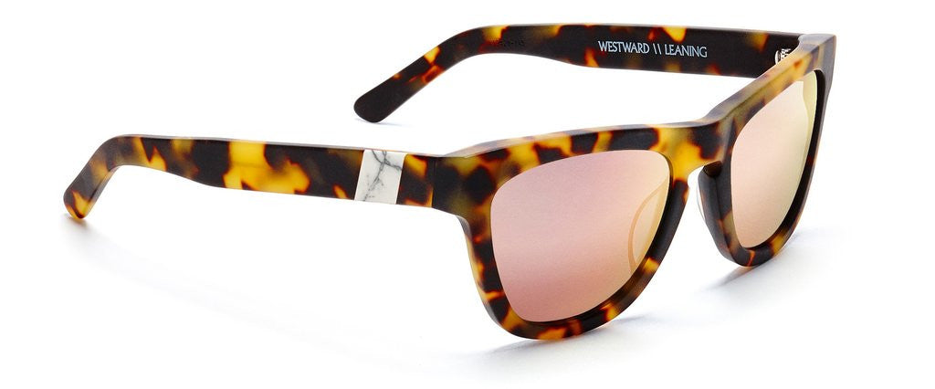 Westward Leaning pioneer 24 sunglasses matte tortoise rose gold