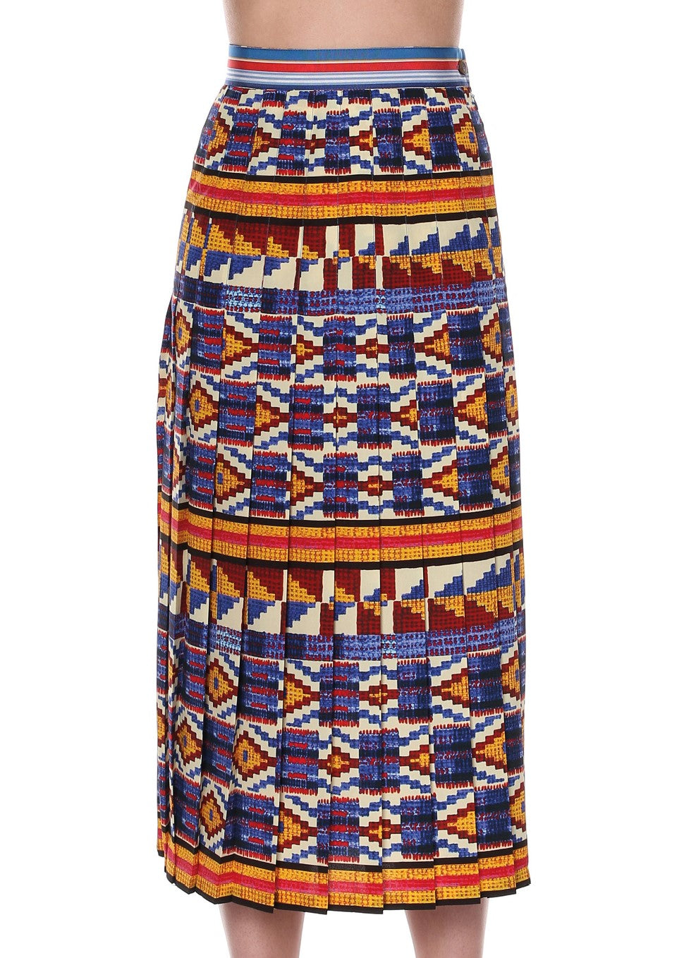 Stella Jean pleated skirt in kente multi