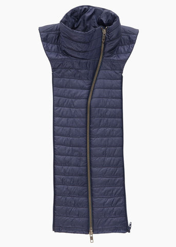 Veronica Beard quilted funnel dickey navy