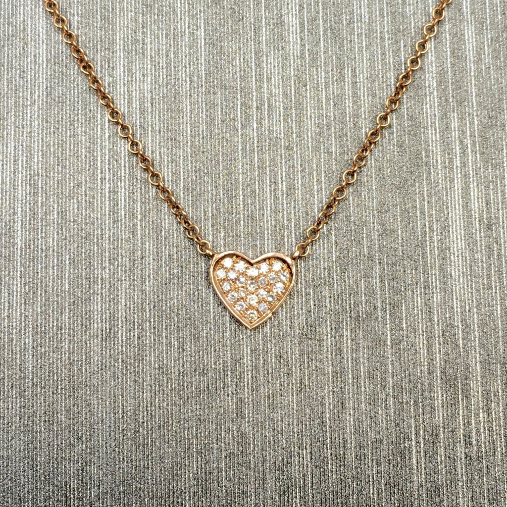 Rocks with Soul Happy Heart Necklace Rose Gold