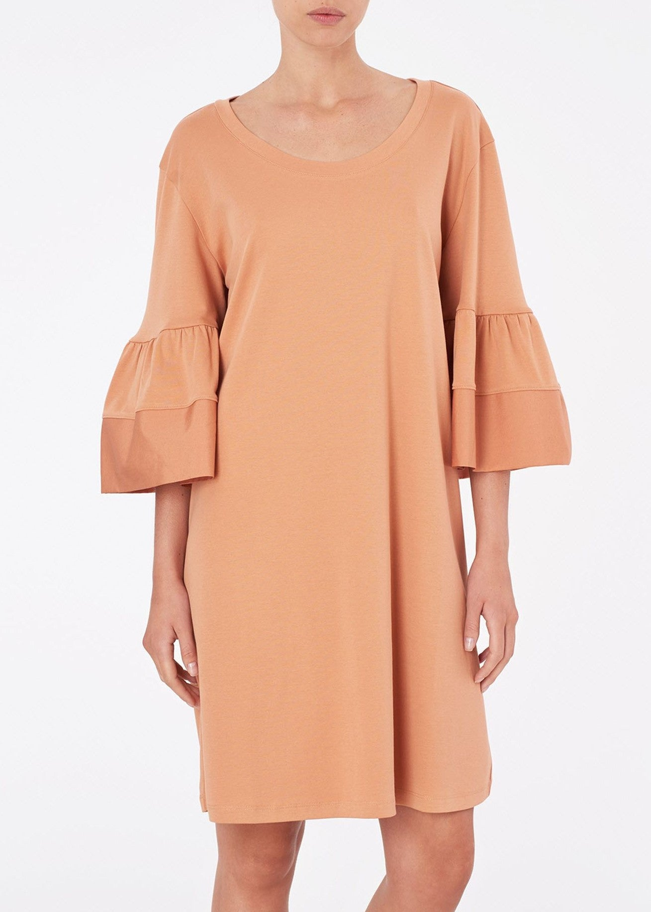 See by Chloe flare sleeve dress tan