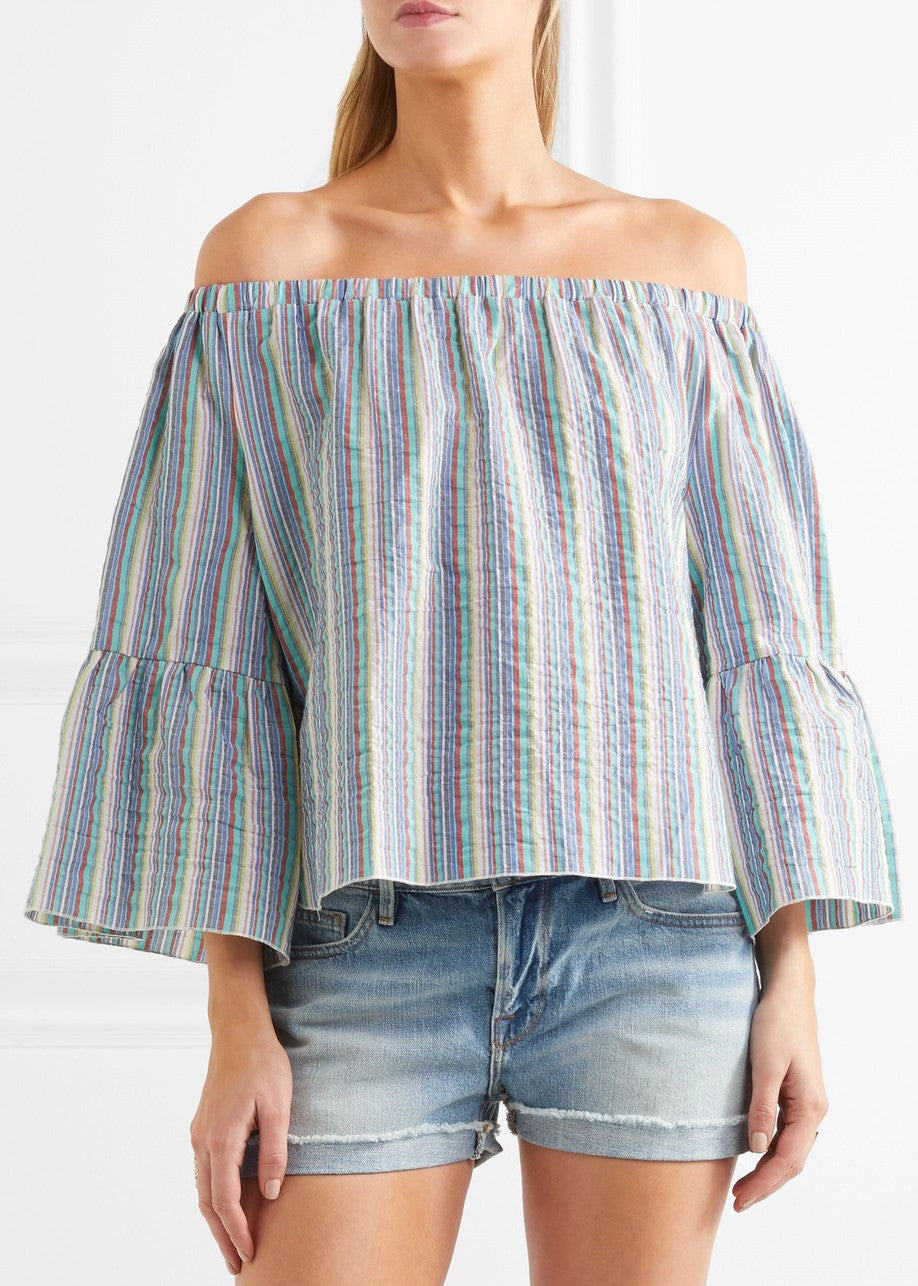See by Chloe off the shoulder top multi