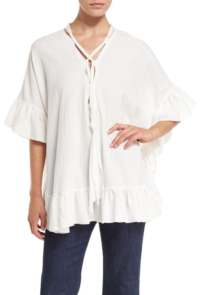 See by Chloe tie up tunic white