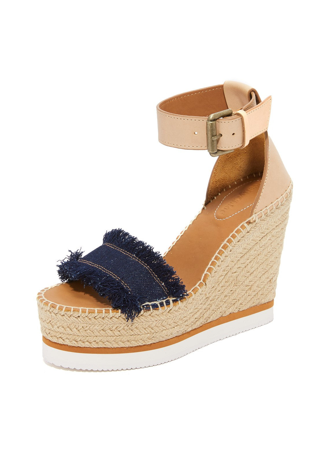 See by Chloe glyn espadrille wedge denim