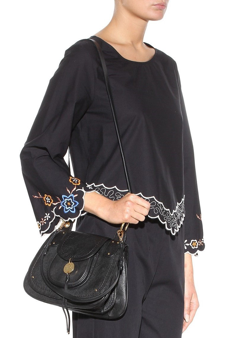 See by Chloe embroidered top navy