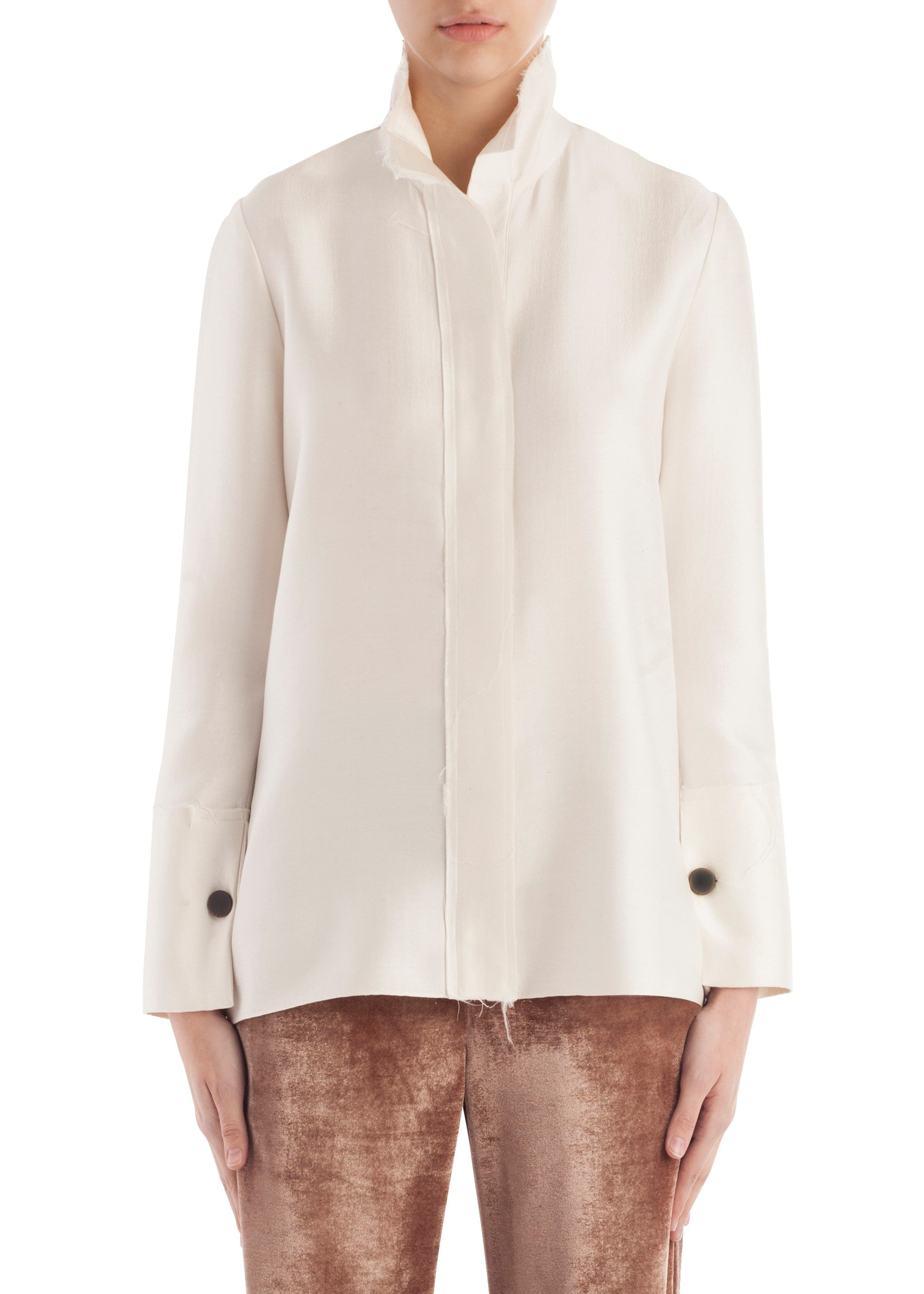 Arias silk blouse white