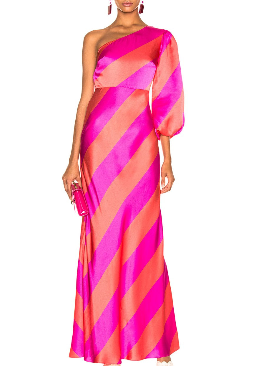 saloni Lily dress in giant stripe