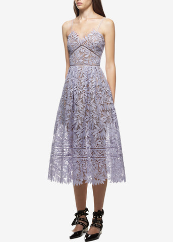 Self Portrait laelia lace dress blue