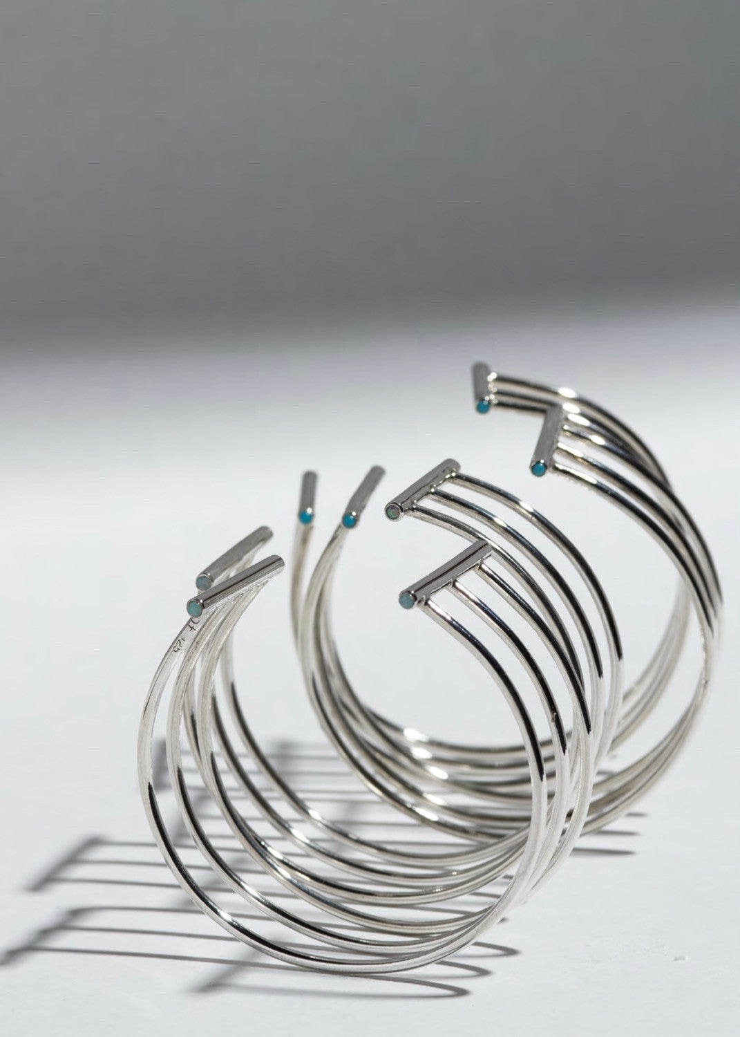 Beaufille Ringlet cuff Sterling Silver with Turquoise and Opal