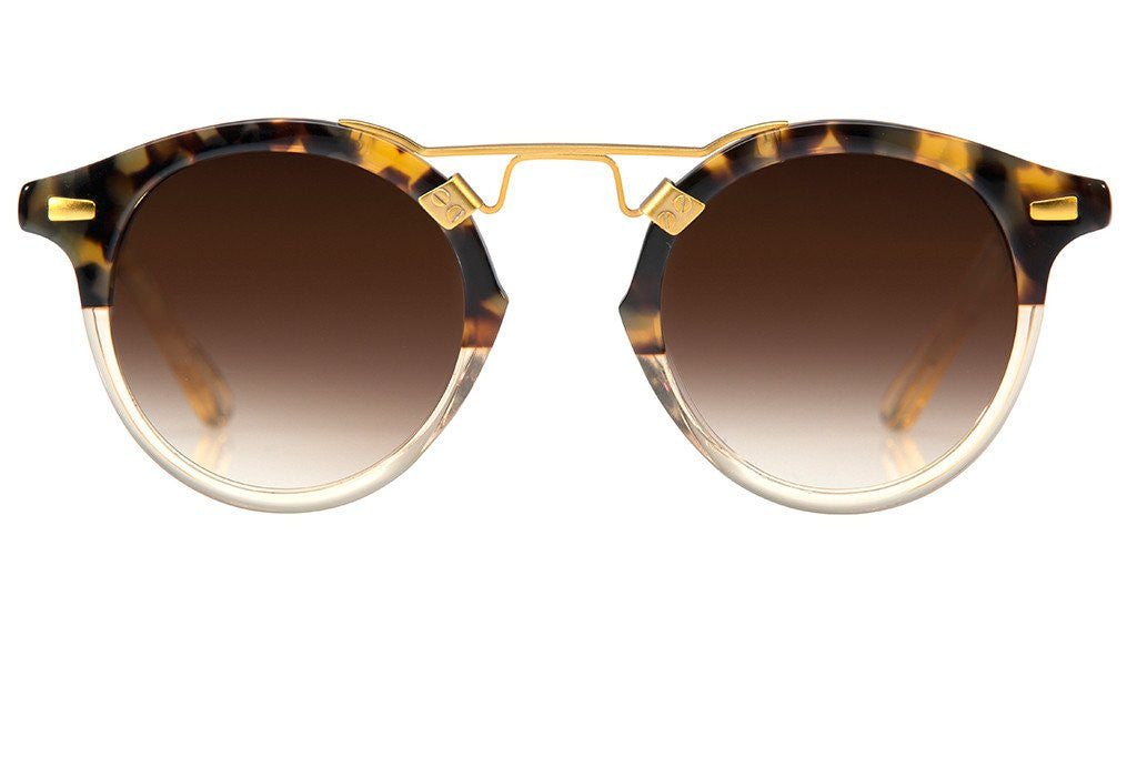 Krewe st. louis sunglasses blonde tortoise champagne