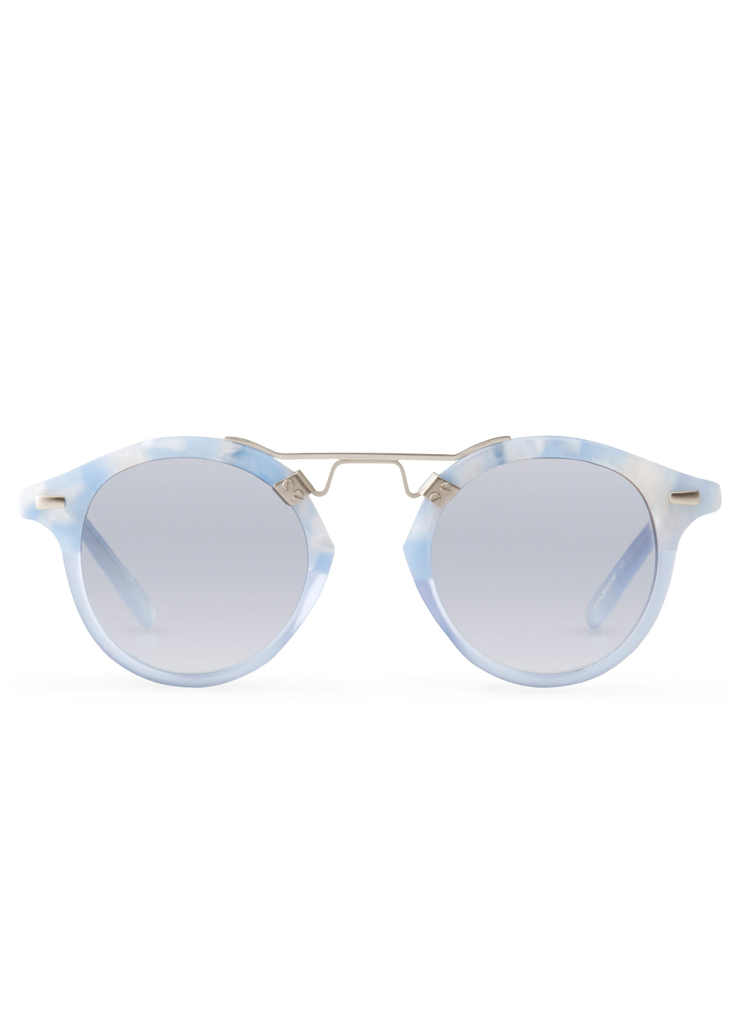 Krewe st. louis sunglasses matte ciel blue crystal