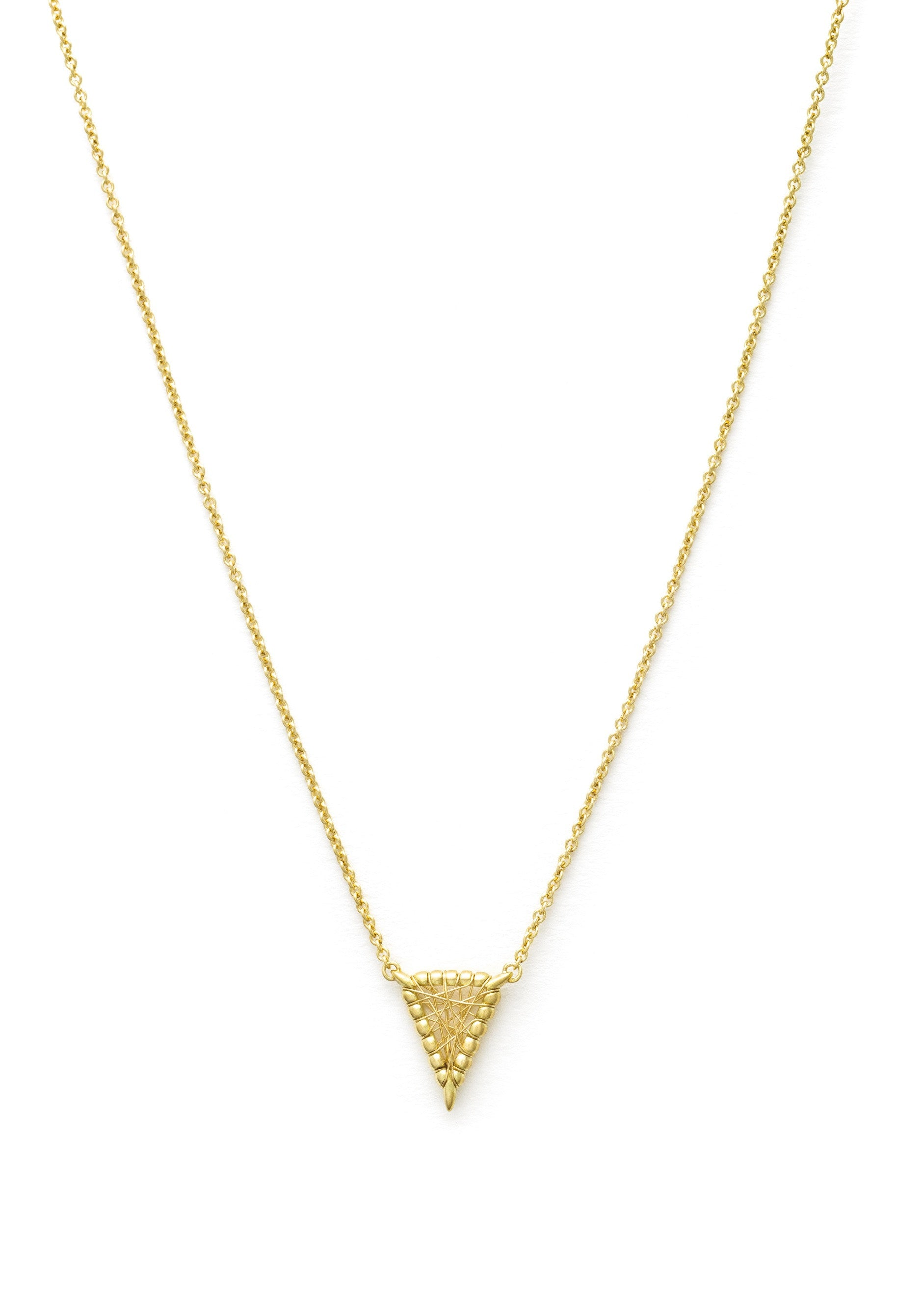 Lola Fenhirst 18K gold sybil micro necklace