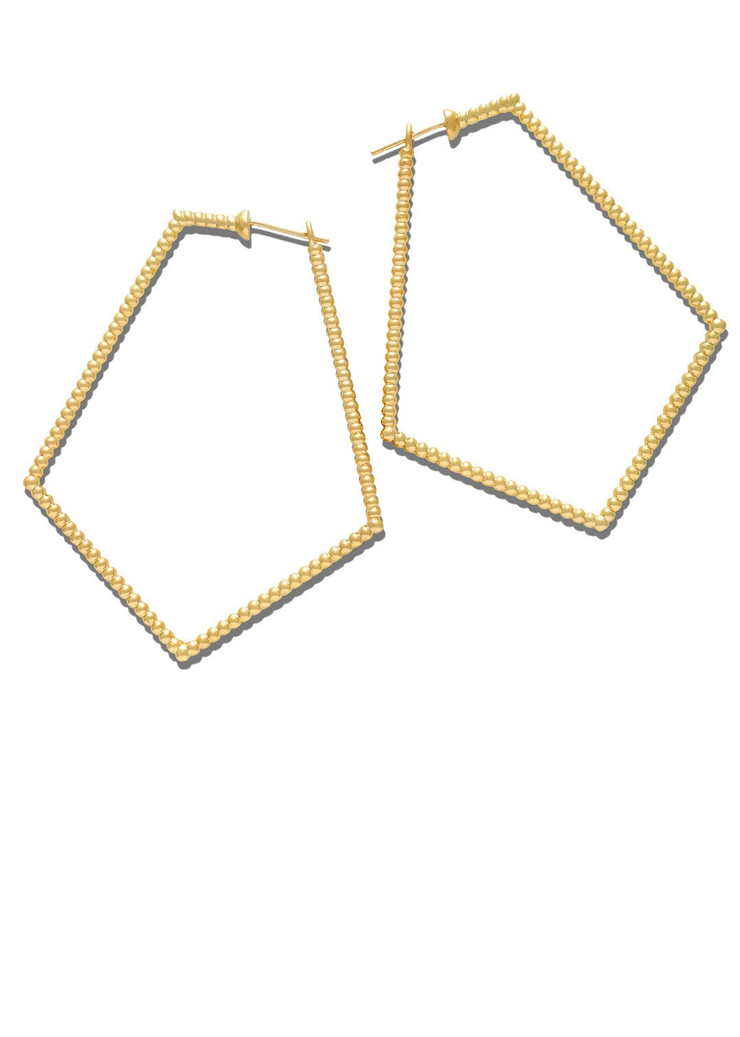 Lola Fenhirst 18K gold sybil pentagon earrings
