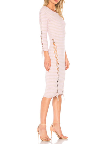 Tabula Rasa askia stripe dress lilac