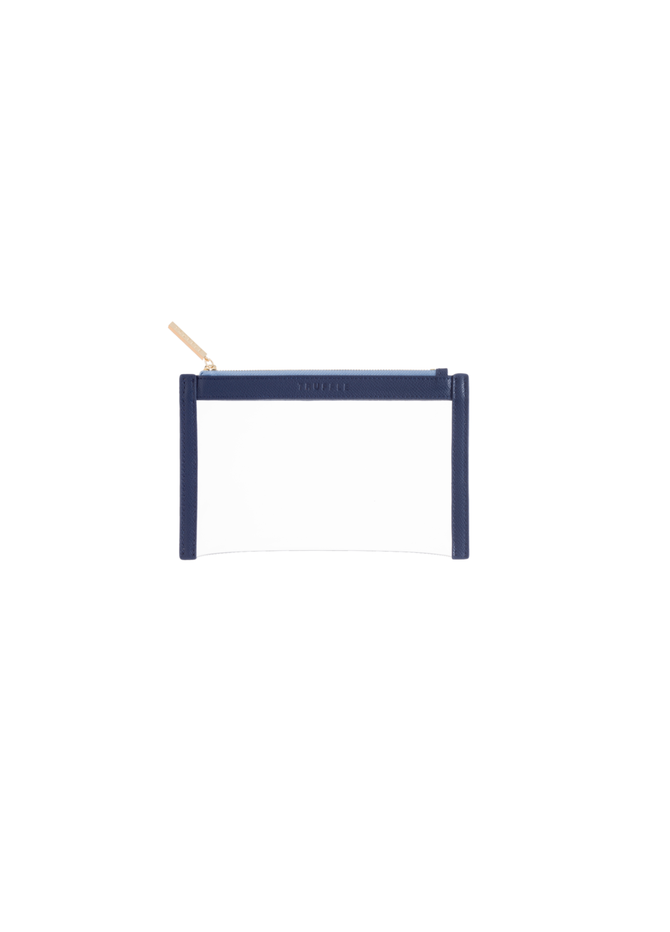 Truffle Clarity clutch mini in navy