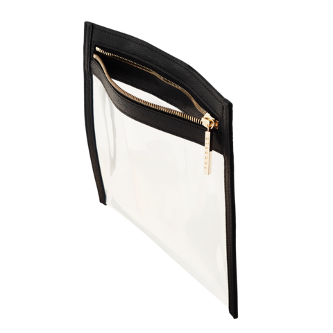 Truffle Clarity clutch small in black
