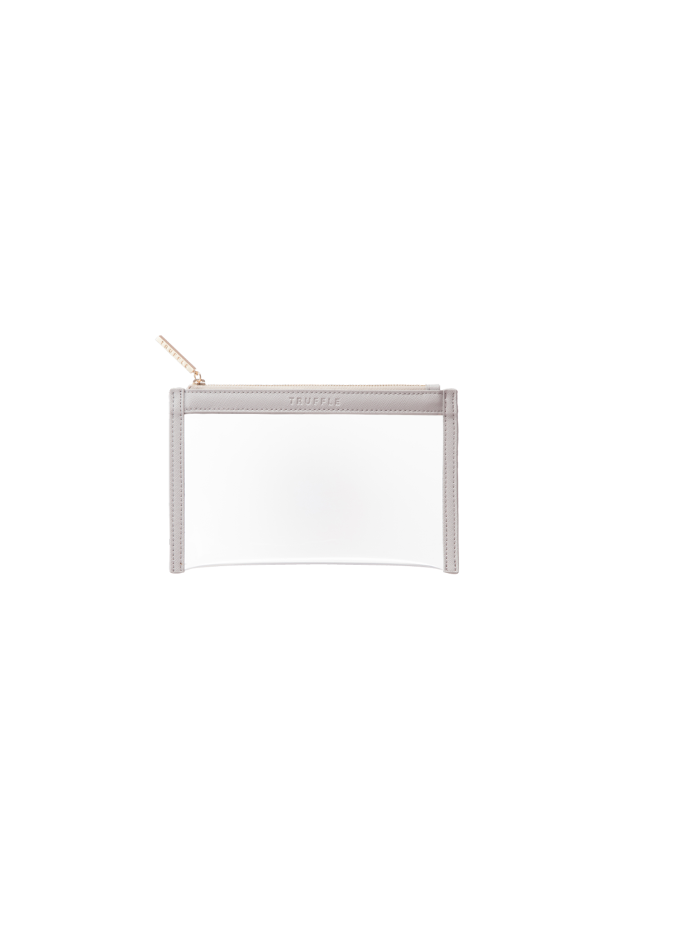 Truffle Clarity clutch mini in dove grey