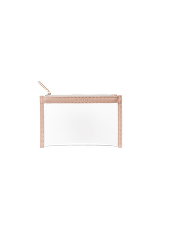Truffle Clarity clutch mini in dusty blush