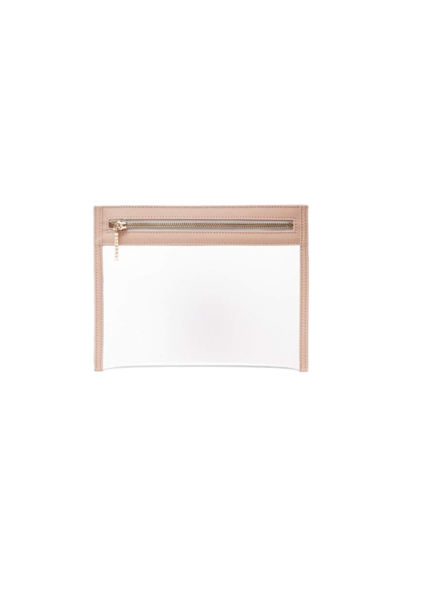 Truffle Clarity clutch small in blush