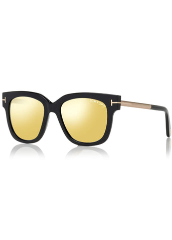 Tom Ford tracy sunglasses black with mirror lens
