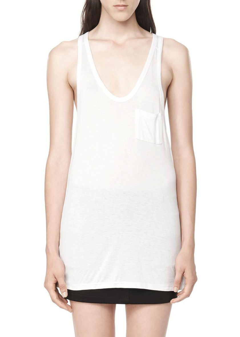 T by Alexander Wang classic tank white