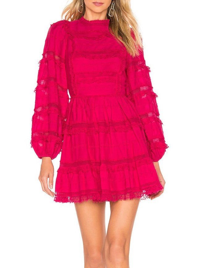 Ulla Johnson Armour dress in fuschia