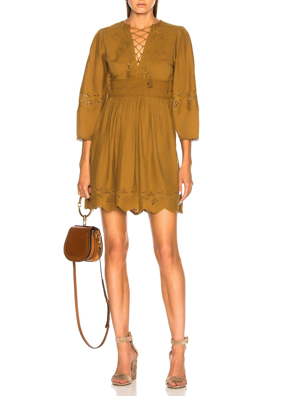 Ulla Johnson ailey dress bronze