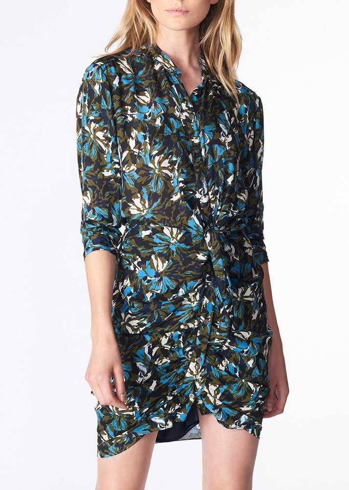 Veronica Beard georgina dress print blue