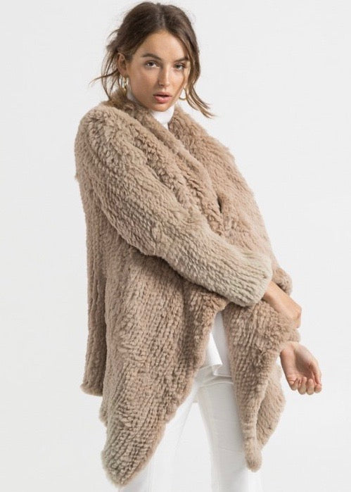 Bubish Vancouver waterfall coat in beige