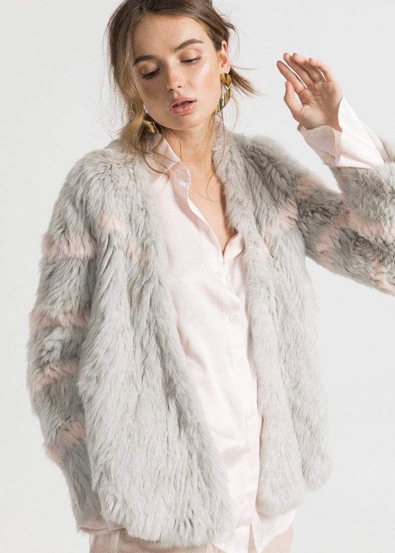 Bubish Viola jacket in light grey blush